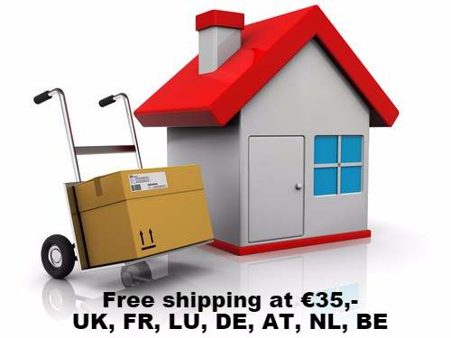 Free delivery at €35,-