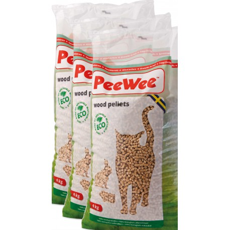 PeeWee wood pellets bag 14L (9 kg) 3 pieces box