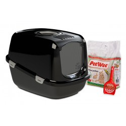 PeeWee litter box EcoDome black