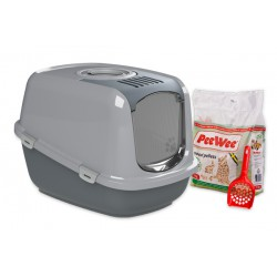 PeeWee litter box EcoDome antr-grey