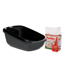 PeeWee litter box EcoGranda black