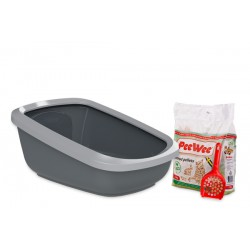 PeeWee litter box EcoGranda anth-grey