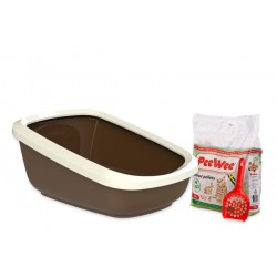 PeeWee litter box EcoGranda brown