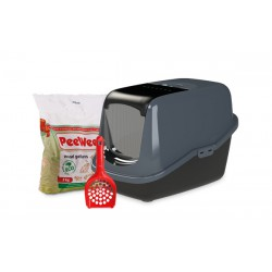 PeeWee litter box EcoHûs black-anth