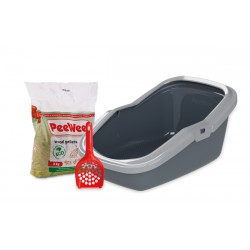 PeeWee litter box EcoMinor anth-grey