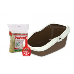 PeeWee litter box EcoMinor brown